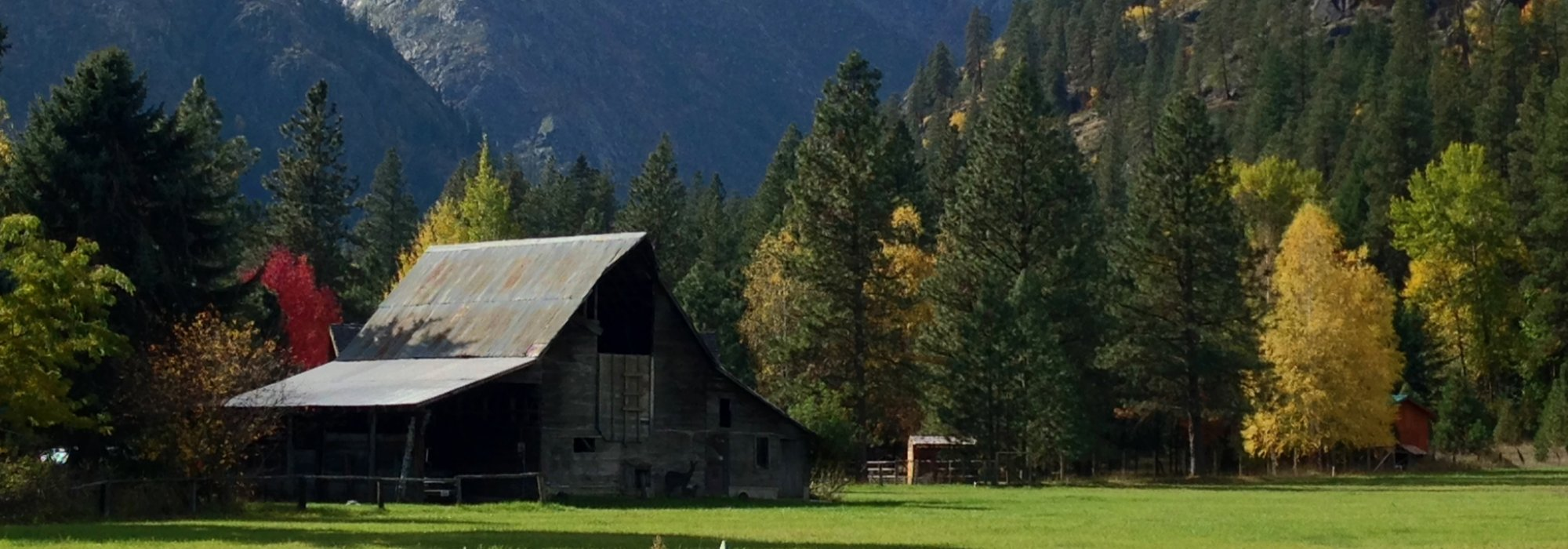 A rural scene in Leavenworth, Washington.