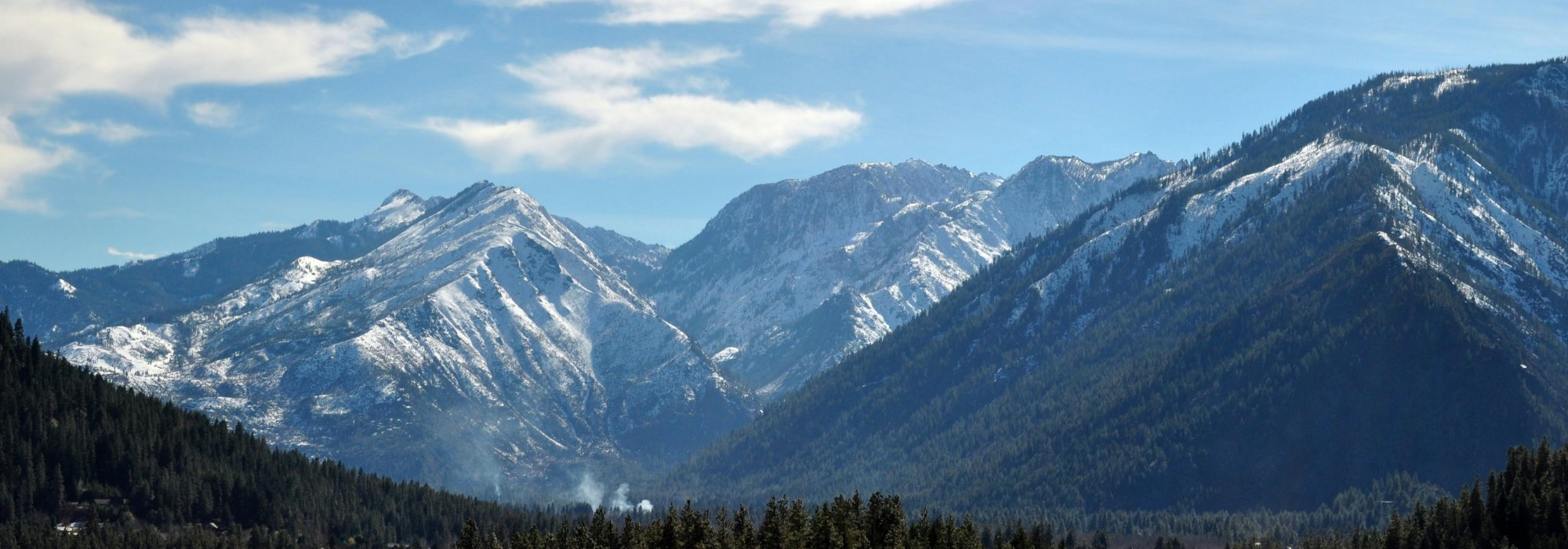 The Enchantments from North Road in Peshastin.