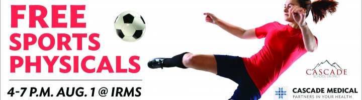 Free sports physicals 4-7 p.m. Aug. 1 at IRMS