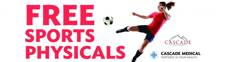 Free sports physicals 4-6:45 p.m. Aug. 1 at IRMS